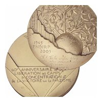 French 60th Anniversary Medal of the Liberation of Nazi Concentration Camps