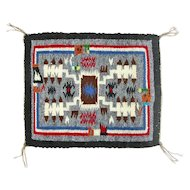 Rainbow Man Storm Pattern Navajo Weaving, Hand Woven Tapestry, Ca. 1970's