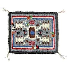 Rainbow Man Storm Pattern Navajo Weaving, Hand Woven Tapestry, Ca. 1970's