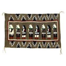 Navajo Eight Yei Figure Weaving, Display Piece, Wall Hanging