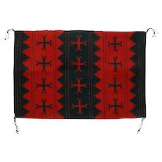 Navajo (Dineh) Weaving or Manta, Old Woman Cross, Display Piece or Wall Hanging
