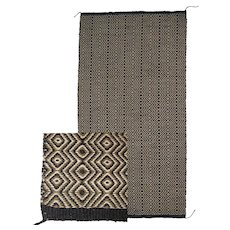 Large Hand-Woven Twill Navajo (Dineh) Saddle Blanket