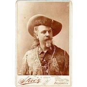 "William F. Cody, ""Buffalo Bill"", Cabinet Card Photograph, Original, not a Repro"