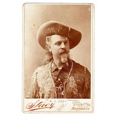 "William F. Cody, ""Buffalo Bill"", Cabinet Card Photograph, Original, not a Repro"