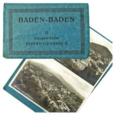 Baden-Baden, Germany, Photographic Post Cards Book, 12 cards, Ca 1915-25