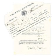 U.S. Colored Troops, Civil War Volunteer Enlistment Document, 1864