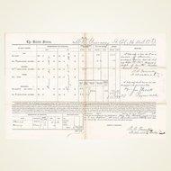 U.S. Colored Troops, Civil War Pay Document, Hilton Head, South Carolina, 1864