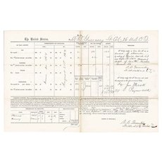 U.S. Colored Troops, Civil War Pay Document, Hilton Head, South Carolina, 1864