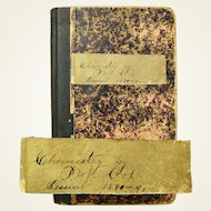 """Maryland University Student Lecture Notes, """"Chemistry"""" by Prof. Cole, 1890-91"""