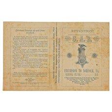 Civil War, GAR, Fortress Monroe Advertising Pamphlet, 1890