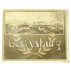 """Gettysburg"" Battlefield Souvenir Booklet, Photographs by W.H. Tipton, 1905"