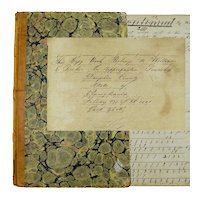 Math Cipher Book and Documents, Signed, Dauphin County, Pennsylvania, 1851