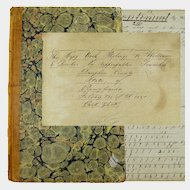 Math Copy Book and Documents, Signed, Dauphin County, Pennsylvania, 1851