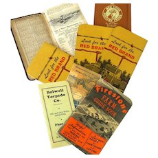 Collection of 12 Advertising Ephemera Memo Booklets, 1919 up to 1971