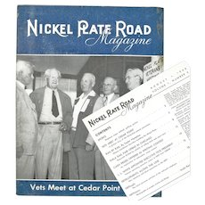 Nickel Plate Railroad Booklet,  Cedar Point, 1948