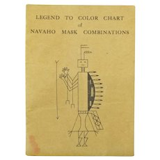 Legend to Color Chart of Navaho Mask Combinations, Booklet, Ca. 1950