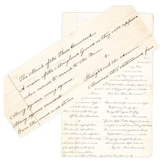The March of the Three Hundred, Original Handwritten Document, A Civil War Era Poem
