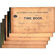 Pittsburg & Lake Erie Railroad Company Time Keeping Record Books, 1912