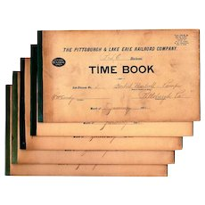 Pittsburg & Lake Erie Railroad Company Time Keeping Record Books, 1912