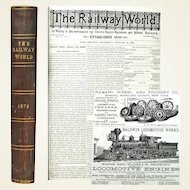 Railway World Bound Annual, Railroads, Mining and Many Ads from the Gilded Age, 1875