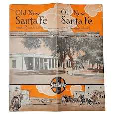 Old-New Santa Fe Booklet and Map, Railroad Publication, 1915