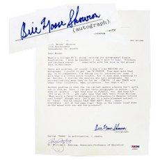 """Moose"" Skowron Autographed Letter, Yankee First Baseman"
