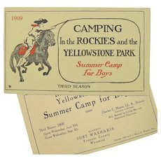 """1909 Promotional Booklet """"Camping In the Rockies and the Yellowstone Park"""""""