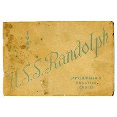Midshipmen's Practice Cruise Booklet, Aircraft Carrier U.S.S. Randolph, 1947