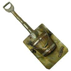Novelty Shovel with Bucket Hanging Match Holder