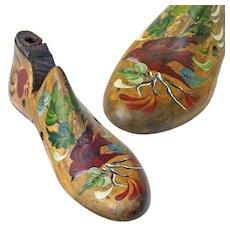 Paint Decorated Child's Shoe Form