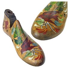 Paint Decorated Child's Shoe Form