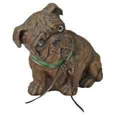 Vintage Syroco Sitting Bulldog Sculpture, 1930's - 40's