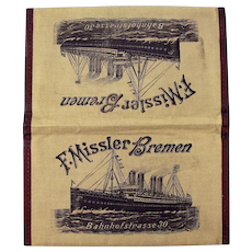 Steamship Ticket and Documents Wallet, F. Missler Company, Bremen, Ca. 1897-1914