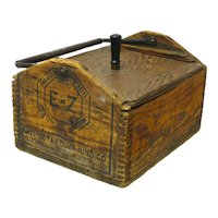 Make-do Wooden Crate Utility Box with Iron Handle, 1902