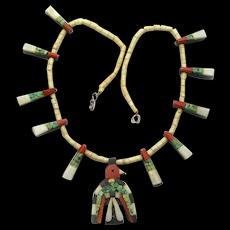 Santo Domingo Thunderbird Necklace, Depression Era, Authenticity Paper Work