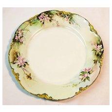 Hand Painted Primrose Decorative Haviland Plate, Gilt Edging