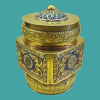 Antique Chinese Enamelled Brass Box, CA.1900
