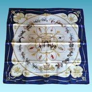"Rare Original Hermes Scarf ""The Royal Mews"", Ltd.Ed. 1994"