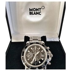 Mont Blanc Sports Chronograph Man's Watch, Box & Papers
