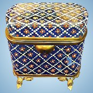 Antique Moser Enamelled Jewel Casket, CA.1880