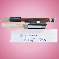 Violin Bow Octagonal- signed: G.Werner