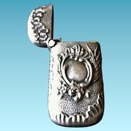 Petite Antique Match Safe or Vesta, Silver, CA.1880