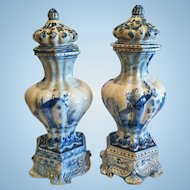 "Rare Pair of ""Savona"" Garniture Vases, 1700-1750"