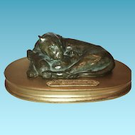 Bronze Lioness & Cubs, Anna Hyattt Huntington,Early 20th Century