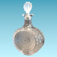 "Lalique Decanter, ""Parme Art"" Pattern, Signed"