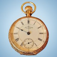 American Watch Co. Waltham 14kt Open Face Pocketwatch, 1887