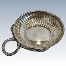19th Century French Silver Wine Taster, Serpent Handle