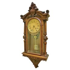 Victorian Wall Regulator Clock, F.Kroeber #8