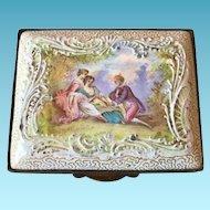 Bilston Enamel Patch Box, 18/19th C. England
