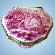 Patch Box in Porcelain, Frankenthal,Germany, late 19th C.